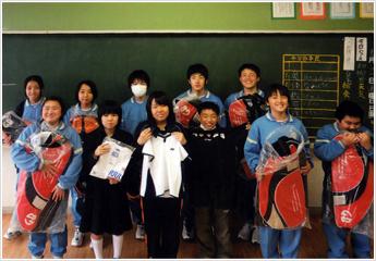 女川第二中学校の生徒達