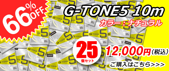 G-TONE5 10mが25個セット