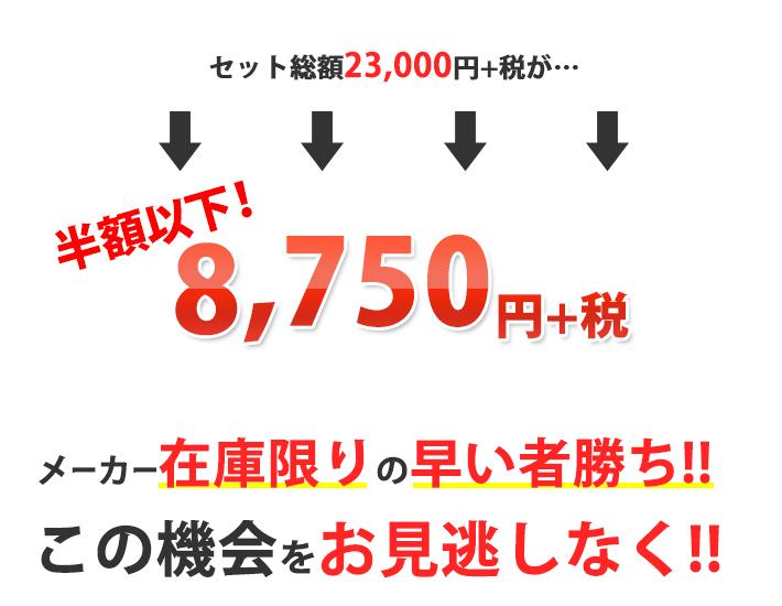 セット総額23000円が8750円!!